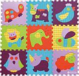 Детский коврик-пазл 92см*92см Веселый зоопарк  GB-M129А2, фото 4