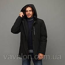 Зимняя мужская куртка Vavalon KZ-2003 Black, фото 2