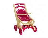 Игрушечная коляска для кукол, пупсов, игрушек с шезлонгом (50*30*40 см) для детей от 3 лет Розовая