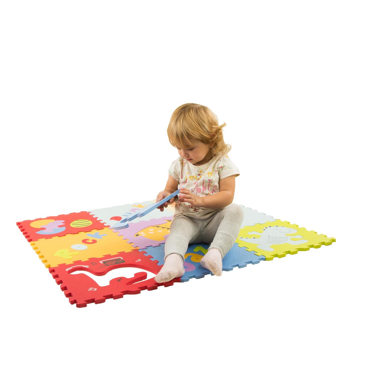 Детский коврик на пол развивающий 92см*92см