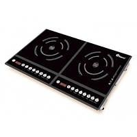 Настольная плита индукционная Domotec MS-5862 2 конфорки 4000W Black (2_009615)