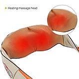 Массажер для шеи, плеч и спины с ИК-подогревом LaGuerir 6 кнопок, фото 6