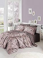 Комплект постельного белья семейный Cotton Satin First Choice (Calisto Pudra)