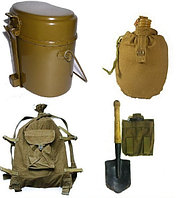 Туристический армейский комплект для рыбалки, охоты и активного отдыха ( вещмешок ,фляга , лопата  , котелок )