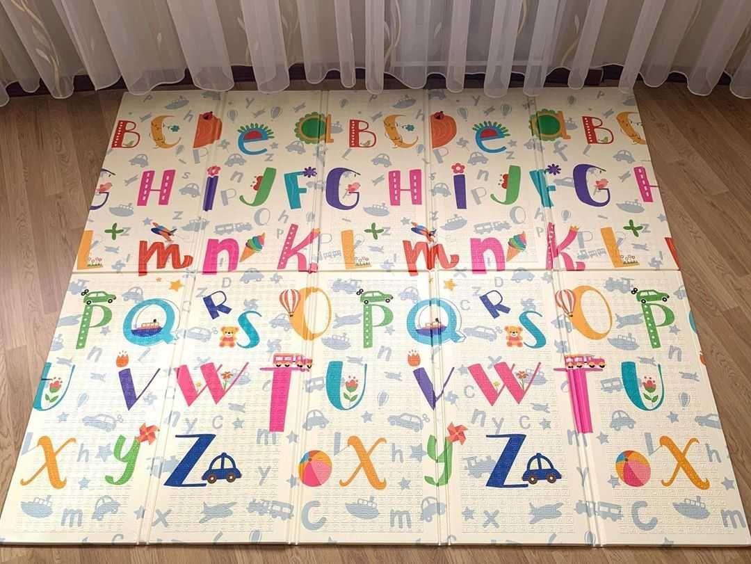 Детский игровой коврик для ползания 200х180