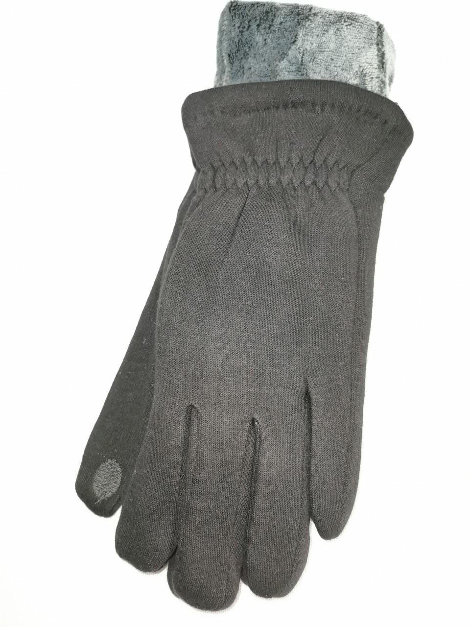 Сенсорны трикотаж з махра Angel рукавички чоловічі тільки оптом