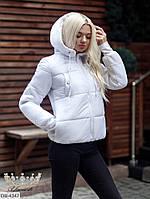 Зимняя короткая женская куртка с капюшоном, размеры S, M, L