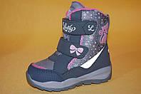 Детская зимняя обувь Термообувь B&G Украина 101312 Для девочек Серый размеры 25_30