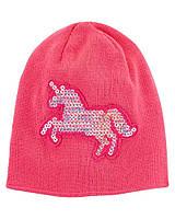 Яскрава демісезонна шапочка з єдинорогом з пайеток Картерс для дівчинки