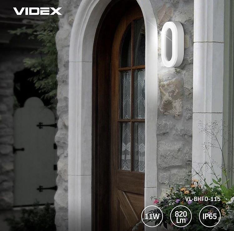 LED світильник ART зовнішній овальний VIDEX 11W 5000K 25245
