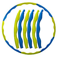 Обруч массажный хула хуп Hula Hoop SP-Planeta Sport FI-1556 диаметр 90 см Yellow-Blue, фото 1