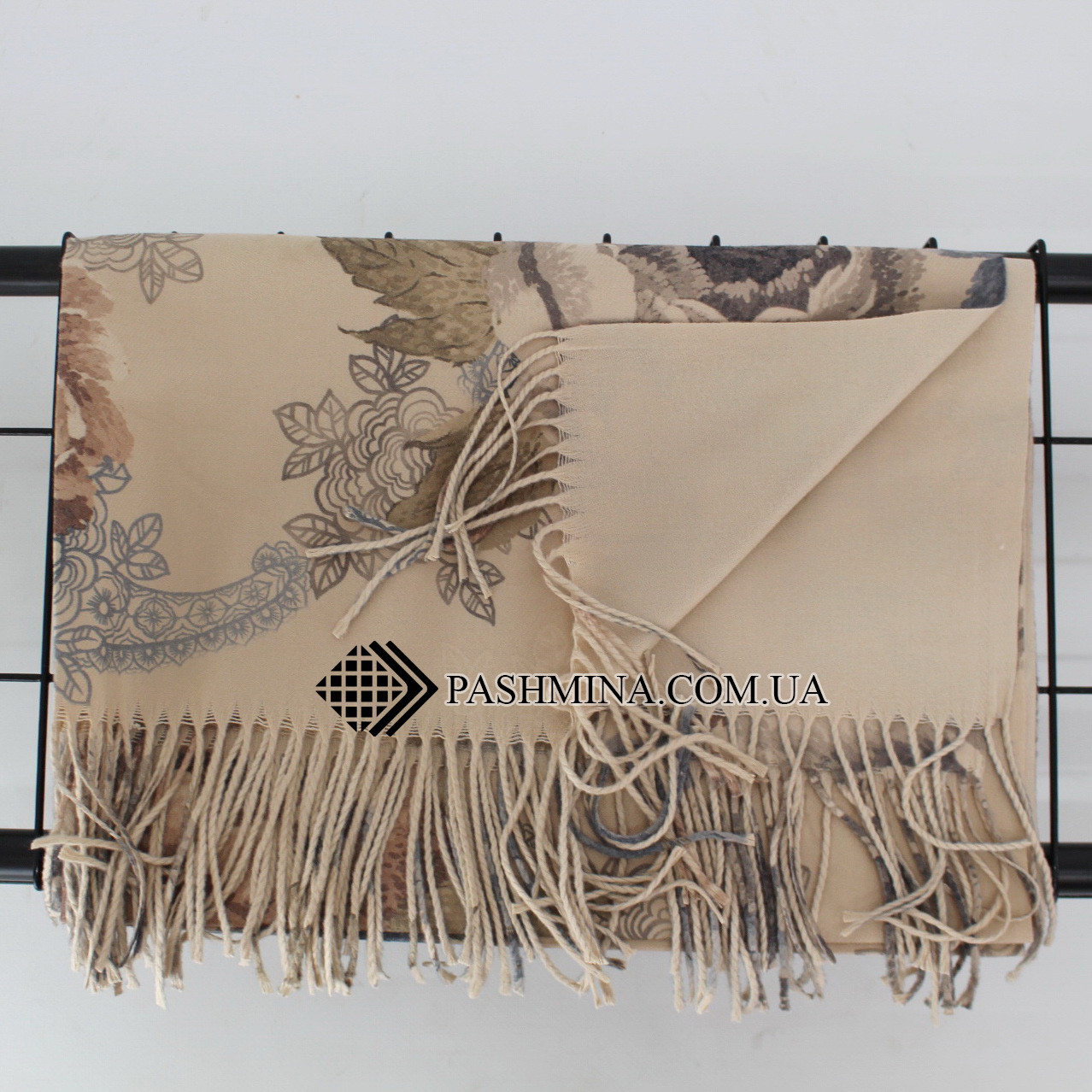 Кашемировый двухстонный шарф палантин Cashmere 106011