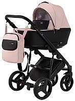 Детская коляска 2 в 1 Richmond Mirello кожа 100% (светло-розовый (пудра))