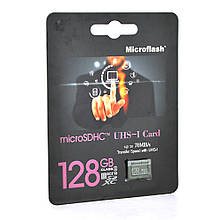 Карта пам'яті Microflash Micro SD, швидкість передачі даних 70MB / s, class10, 128G