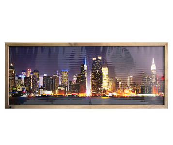 """Настінний плівковий обігрівач картина, VIP """"Нью-Йорк"""", інфрачервоний обігрівач Тріо 00204 (SV)"""