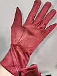 Замш с Арктический бархат сенсорны женские перчатки для работы на телефоне плоншете ANJELA только оптом, фото 5