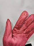 Замш с Арктический бархат сенсорны женские перчатки для работы на телефоне плоншете ANJELA только оптом, фото 6