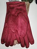 Замш с Арктический бархат сенсорны женские перчатки для работы на телефоне плоншете ANJELA только оптом, фото 7
