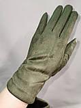 Замш с Арктический бархат сенсорны женские перчатки для работы на телефоне плоншете ANJELA только оптом, фото 2