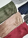 Замш с Арктический бархат сенсорны женские перчатки для работы на телефоне плоншете ANJELA только оптом, фото 4