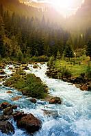 Інфрачервоний настінний обігрівач-картина Гірська Річка, з доставкою по Україні Тріо 00116