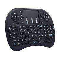 Бездротова міні-клавіатура з тачпадом Rii mini I8, колір - чорний, з доставкою по Києву та Україні