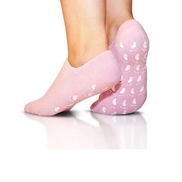 Спа гелеві шкарпетки для педикюру з маслом жожоба Спа Gel Socks зволожуючі шкарпетки для ніг, Рожеві (SV)