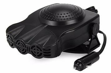 Автомобільний обігрівач салону від прикурювача, Aeroterma si Ventilator 12v Чорний, три сопла, 150 W (V 1)