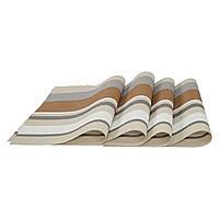 Підставки під тарілки на стіл, сервірувальні, набір 4 шт, колір - бежево-коричневий