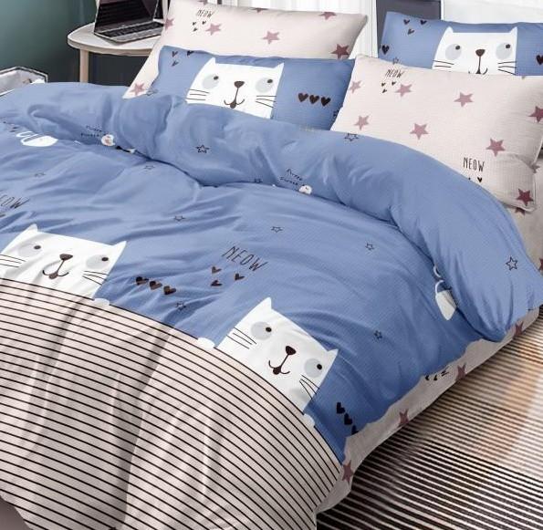 Комплект постельного белья Полуторный 150Х220 Хлопок 100% Поплин 203007
