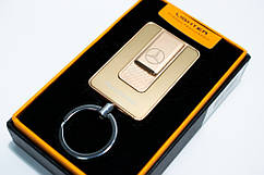 Розпродаж! Акумуляторна USB електрозапальничка, Mercedes (Art - 811) Золотиста спіральна запальничка