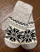 Жіноча рукавичка з вовни, ангори на гумці