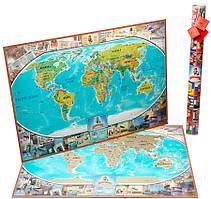 Скретч карта, My Map Flags Edition, travel map - карта подорожей, ENG