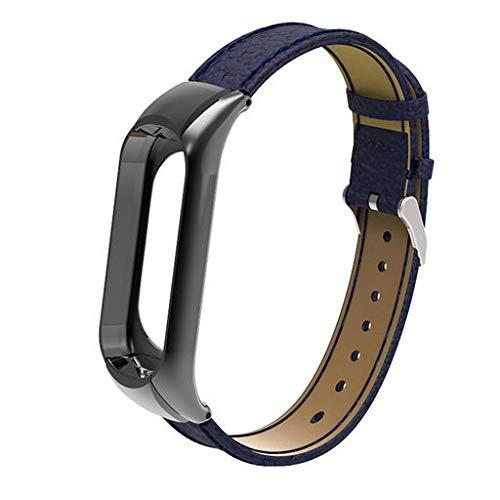 Ремешок Gasta Leather для фитнес браслета Xiaomi Mi Band 3 color Blue