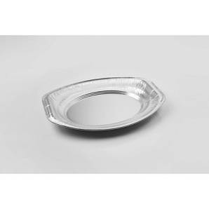 Блюдо одноразовое овальное 35х24х2,3 см. 0,9 л. 10 шт/уп из алюминиевой фольги