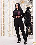 Жіночий трикотажний спортивний костюм трійка, Розміри:46-48,50-52,54-56, фото 2