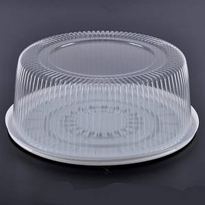 Упаковка блистерная для торта 33,5 см., 5 шт/уп круглая, из полистирола ПС-260