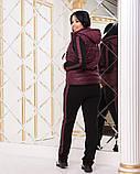 Жіночий трикотажний спортивний костюм трійка, Розміри:46-48,50-52,54-56, фото 3