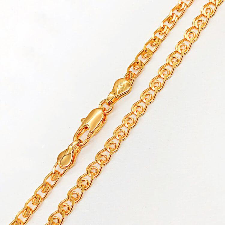 Цепочка Xuping Jewelry 50 см х 4 мм Лав медицинское золото позолота 18К А/В 3-0125