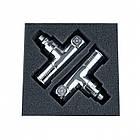 """Комплект угловых радиаторных кранов Raftec Chrome 1/2""""x1/2"""" RV-2012, фото 3"""