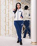 Жіночий трикотажний спортивний костюм на флісі-3 кольори, Розміри:48,50,52,54, фото 3