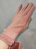 Сенсорны перчатки шерстяная ткань  для работы на телефоне плоншете ANJELA/Сенсорны женские перчатки оптом, фото 2