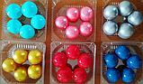 """Набір """"Кульки святкові (5шт) малинові"""", фото 2"""