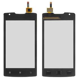 Сенсор (тачскрин) для Lenovo A1000 IdeaPhone черный