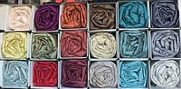 Сатиновая простынь на резинке с наволочками на матрас 180*200 см Разные цвета, фото 1