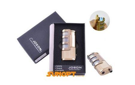 Зажигалка подарочная Jobon (Острое пламя) №4015-2