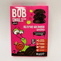 Натуральные конфеты Bob Snail Яблоко-Малина в бельгийском черном шоколаде 60 г