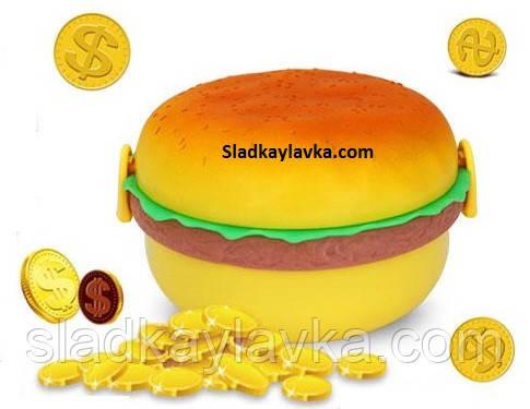 Монеты шоколадные Гамбургер Ланч Бокс 200 шт