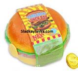 Монеты шоколадные Гамбургер Ланч Бокс 200 шт, фото 2