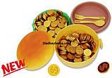 Монеты шоколадные Гамбургер Ланч Бокс 200 шт, фото 3